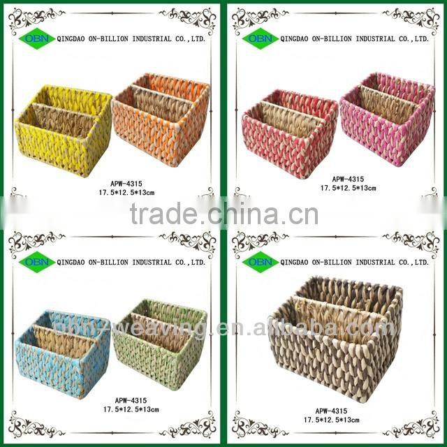 Natural woven pencil holder for kids