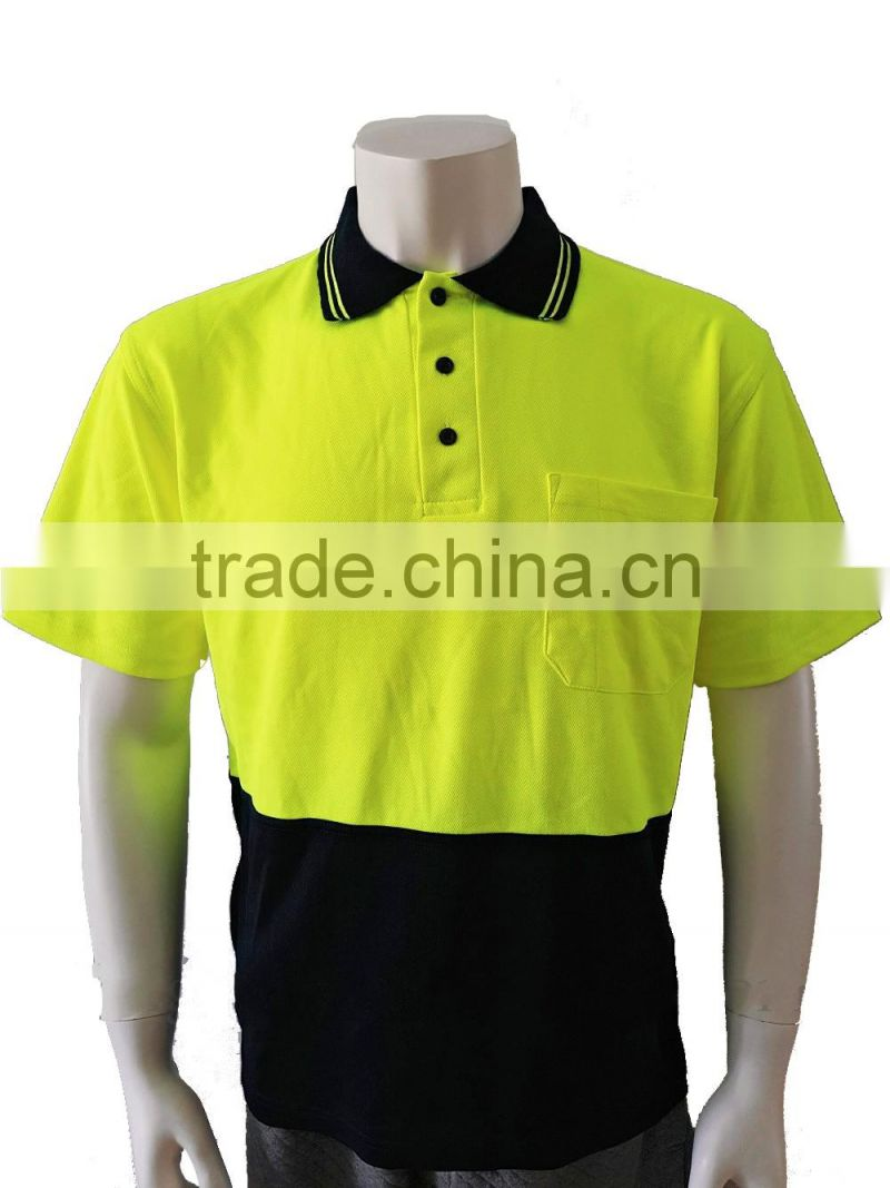 Mens High Visibility Two Tone Reflective Polyestercotton Chest