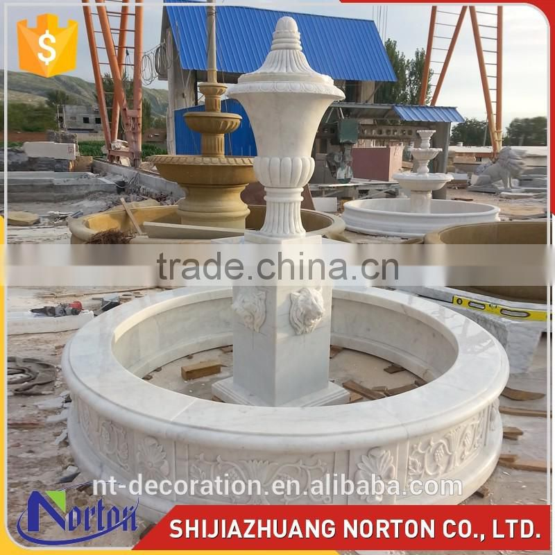 Wedding large natural marble swan outdoor garden fountains NTMF-S034Y