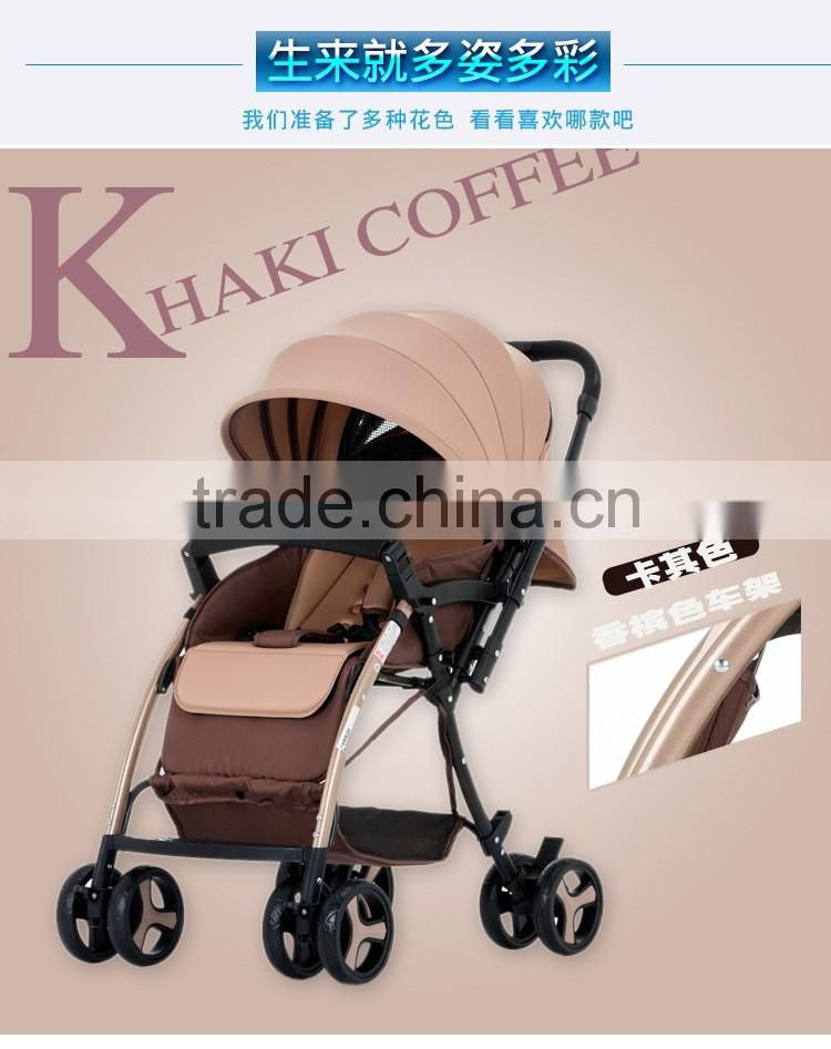 Wholesale Easy Folding Light Weight High View 2 in 1 Classic Baby Strollers Pram