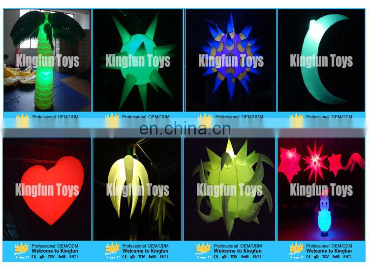 Hanging stage/show/party inflatable led jellyfish ball