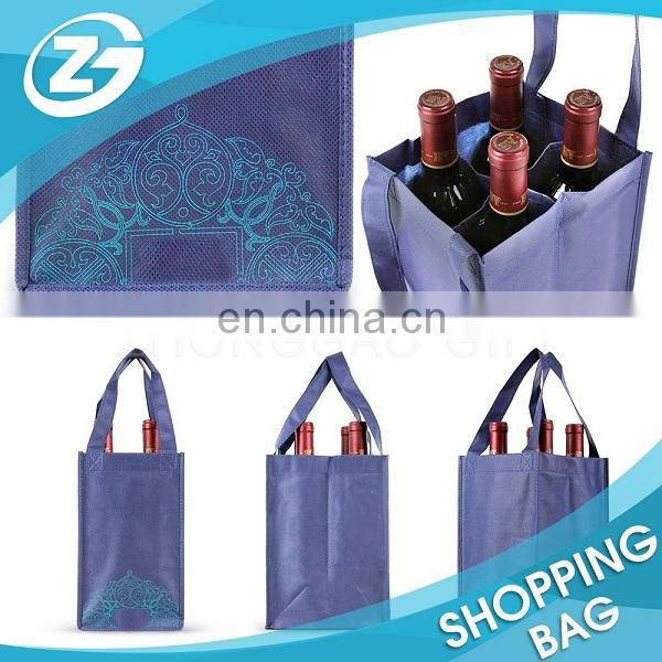 With Logo Wholesale Reusable Non Woven Custom Wine Bag