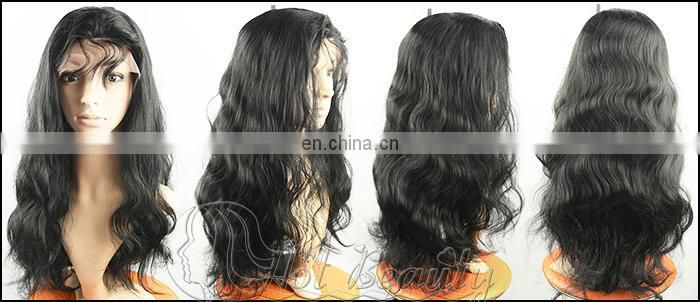 Nature top grade indian remy hair full lace wig deep curl