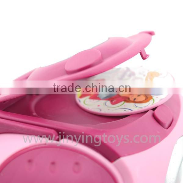 Funny cute electronic beated musical toy CD box toy light instrument for baby