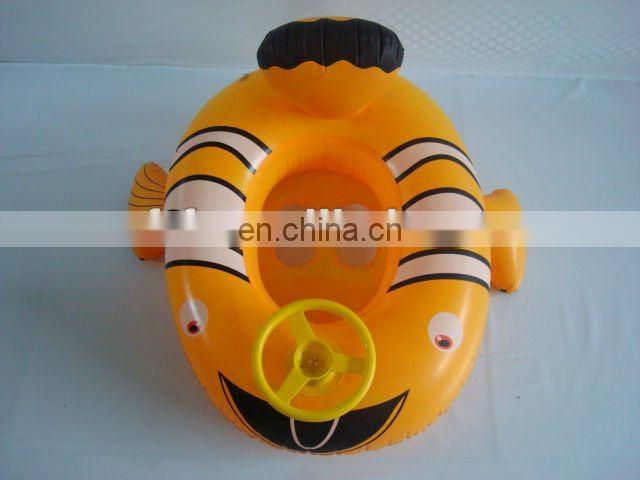 Inflatable Yellow Baby Boat With Steering Wheel