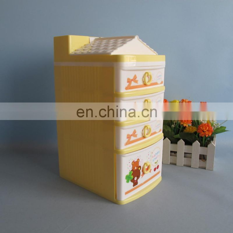 2014 new product decorative plastic drawer storage cabinets