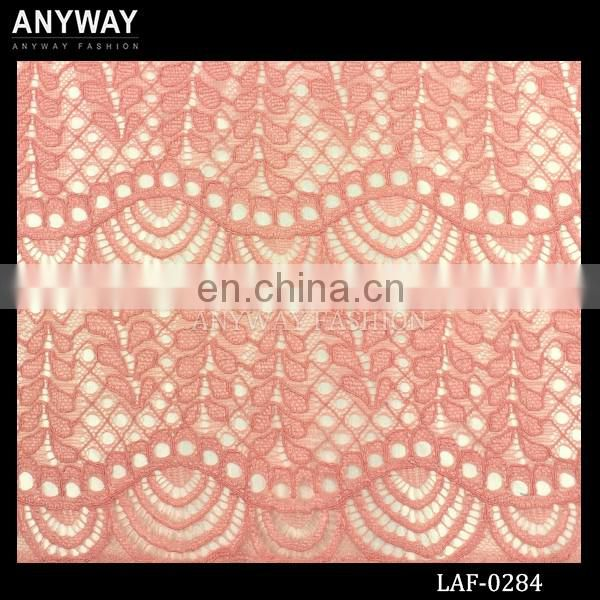 Trendy beaded lace fabric fashionable cotton lace fabric cheap lace fabric for dress