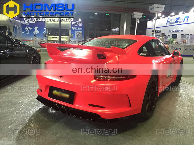 3 full set body kits rear bumper & front bumper & spoiler for GT3 style 991 911