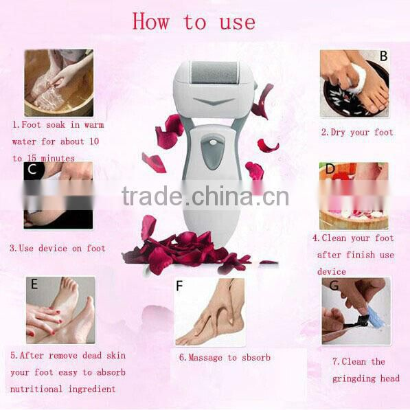 Original Feet Care Tool Electric Exfoliator Pedicure Callus Skin Remover Personal Care Peeling Foot Massager