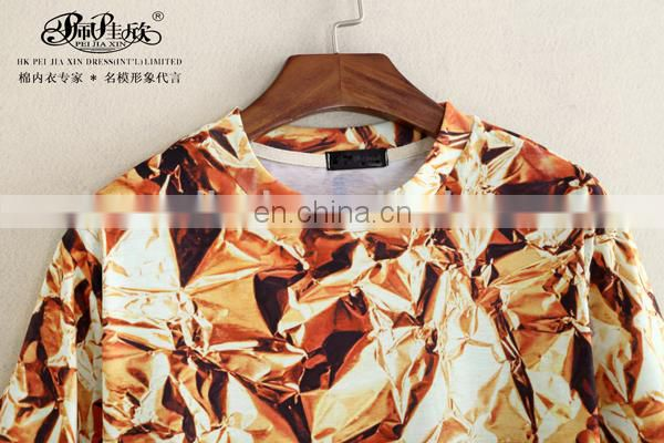 Peijiaxin Latest Design Casual Style Customized 3D T shirt Design for Men