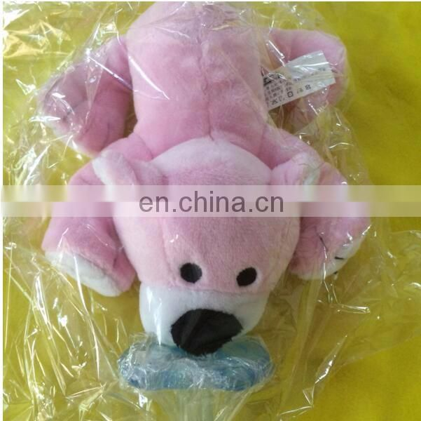Custom private label baby plush animal monkey with detachable pacifiers