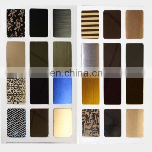 Cheap price SUS304 316 color etching stainless steel sheet