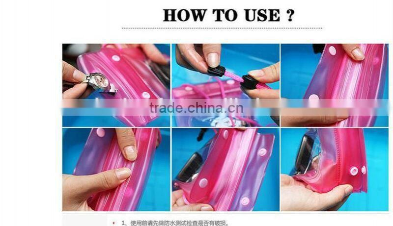clear vinyl waterproof smartphone bag