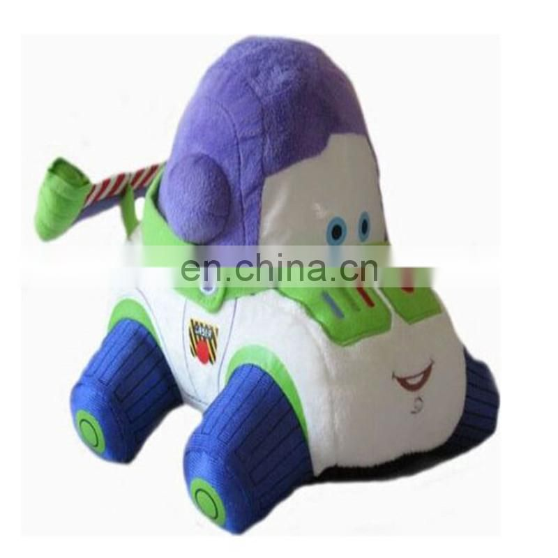 promitional toy shape pillow stuffed custom design logo car