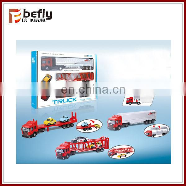 Kids metal trailer truck toy
