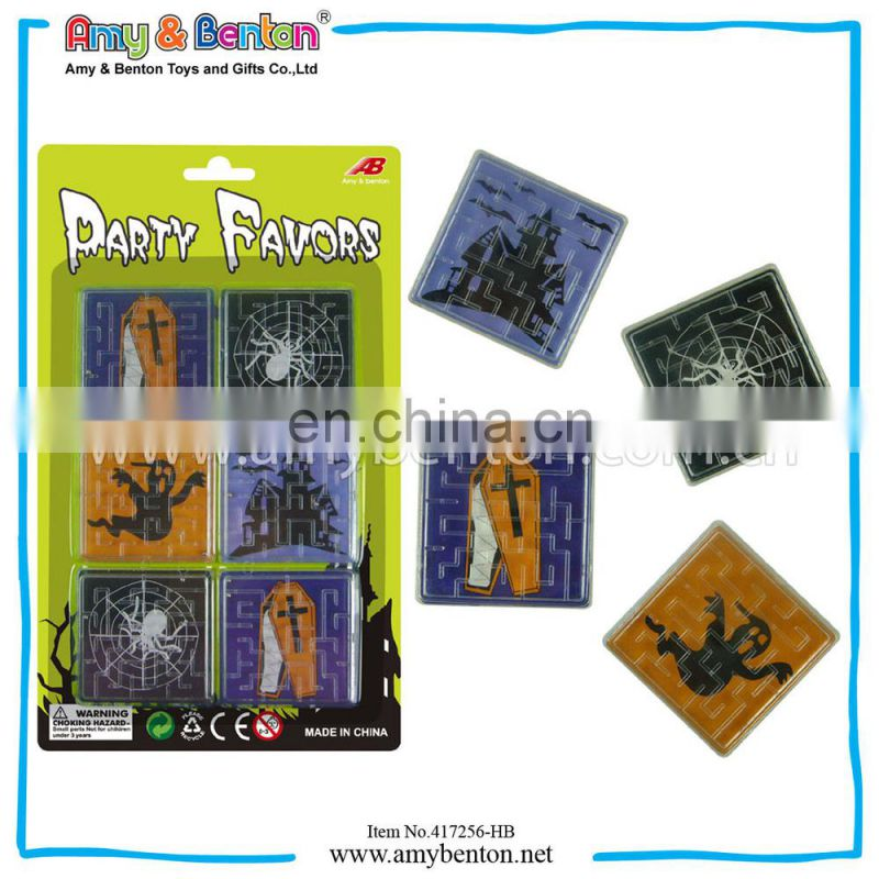 Maze Game Sport Game Square Shape Halloween Game Toys(6pcs pack)