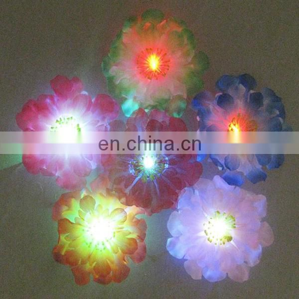 Glovion Artificial Flower LED Flashing Brooches Corsage Flower