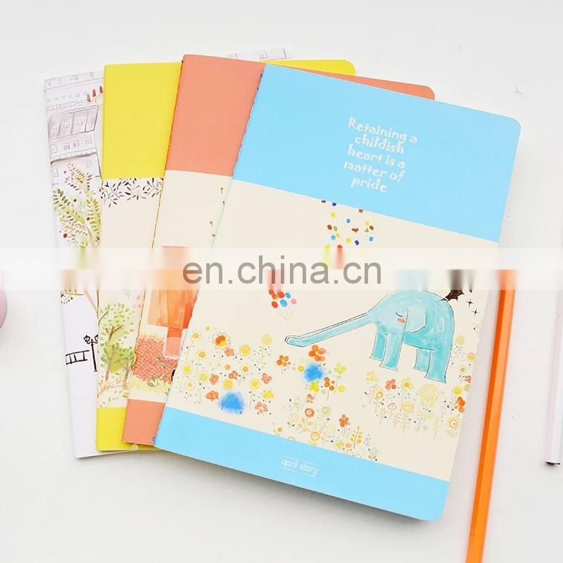 Cute design spiral pocket Custom notepad promotional notepad