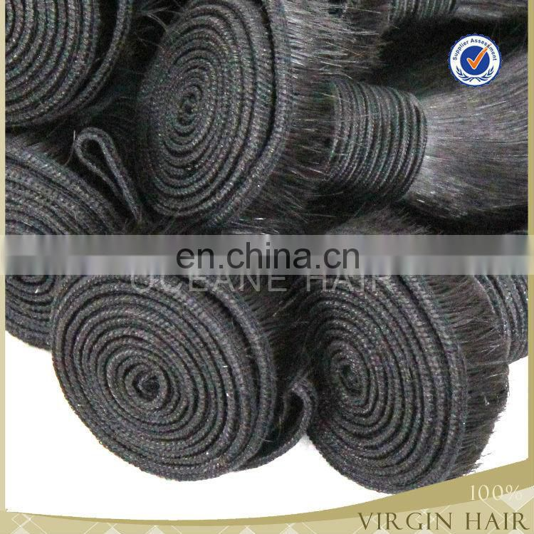 Wholesale top quality human remy cheap virgin brazilian straight hair