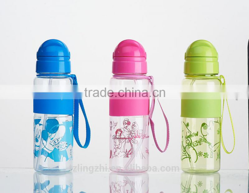 hot sale plastic fashion space cup,plastic donni bear water cup, plastic water bottle with straw