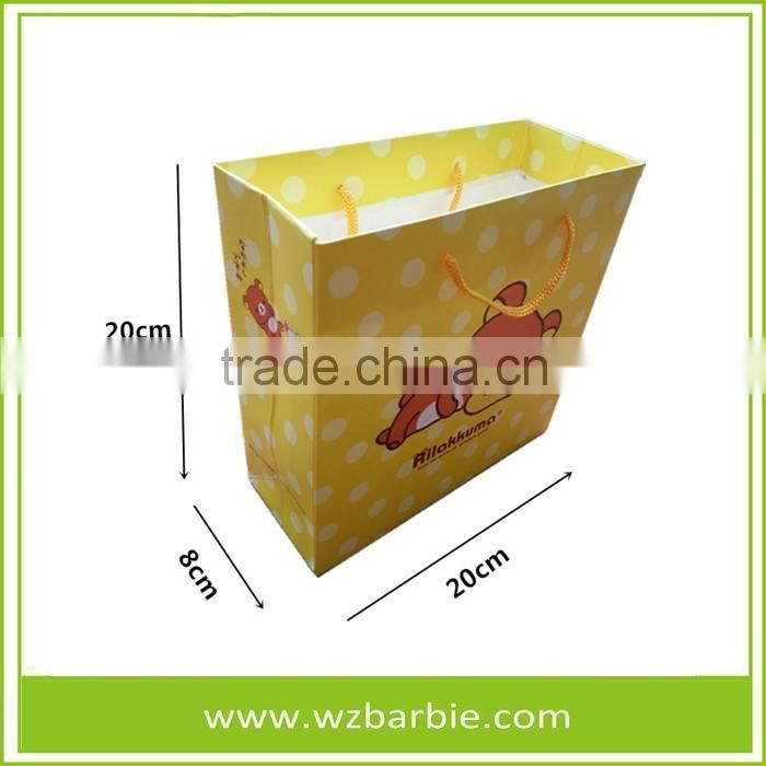 Customized Bear High Quality Paper Shopping/Gift Bag With Handle, China Factory