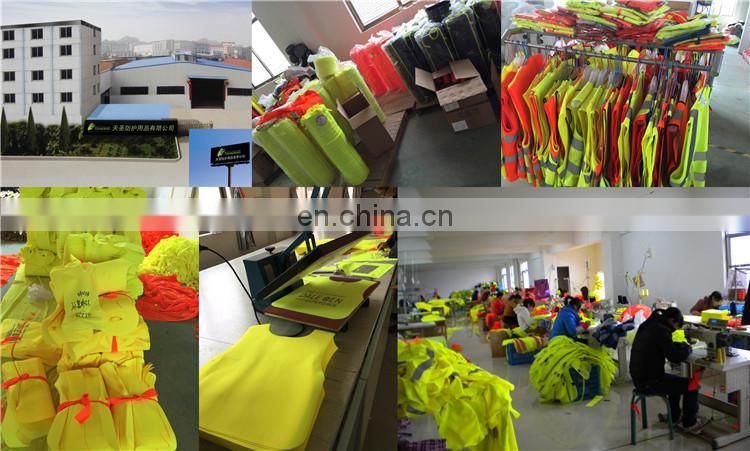 EN 20471 colorful emergency safety vest 120gsm