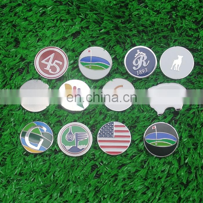 Good looking golf ball marker and hat clip in golf sports