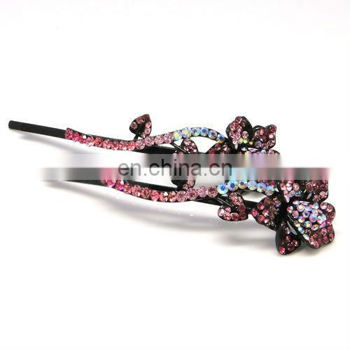 Metal rhinestone crystal hair clip pin accessories