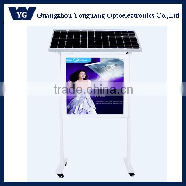 Outdoor floor standing advertising solar board light box, street light advertising light box