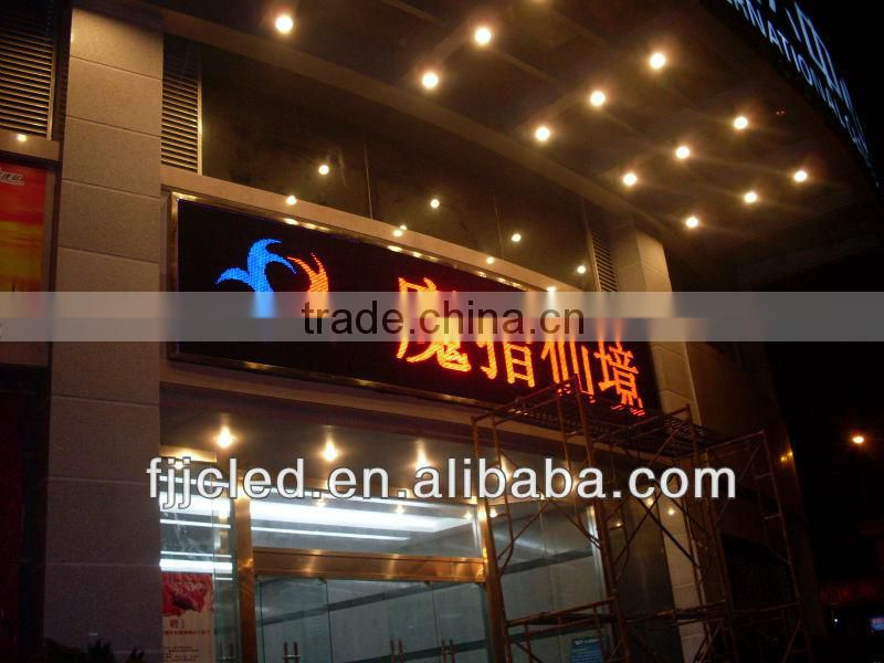 Wholesale P10 Single Multi Color Animation Display Lintel Hanging Semi-outdoor Usage LED Sign Board