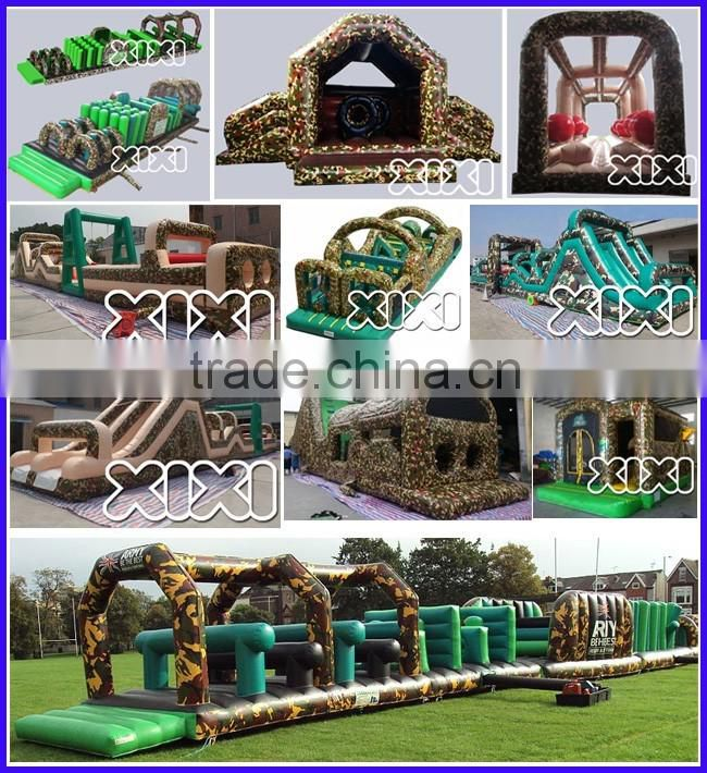 Outdoor large inflatable water amusement park with inflatable water slide for sale