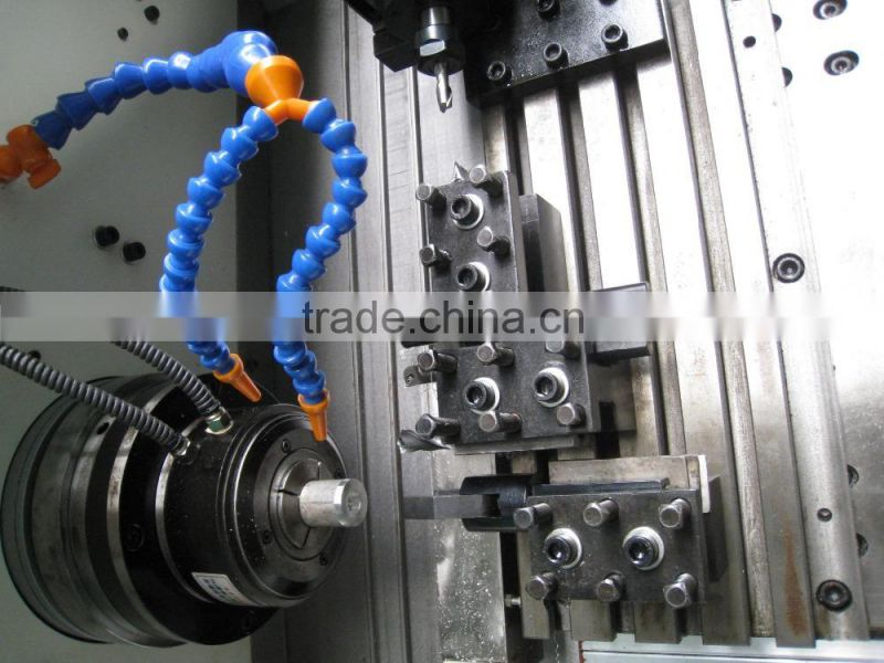 High processing efficiency machine tool CNC300D slant bed CNC lathe turning center on promotion