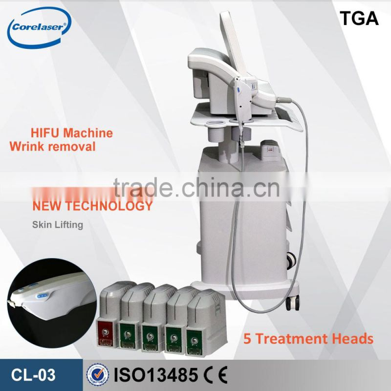 salon use Medical CE Ultrasound HIFU equipment for Improve jaw line