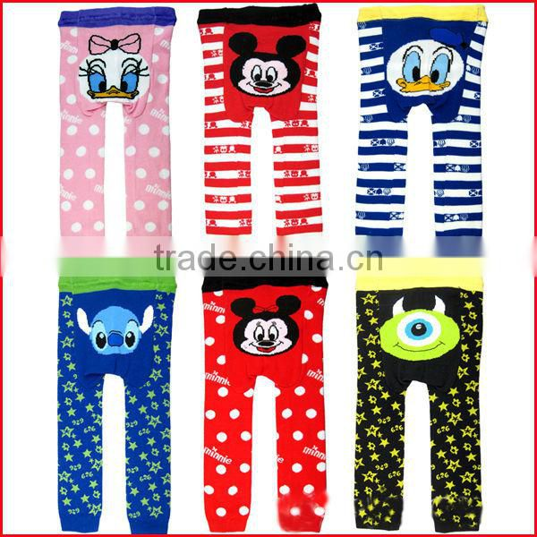 cartoon printed cotton baby pants