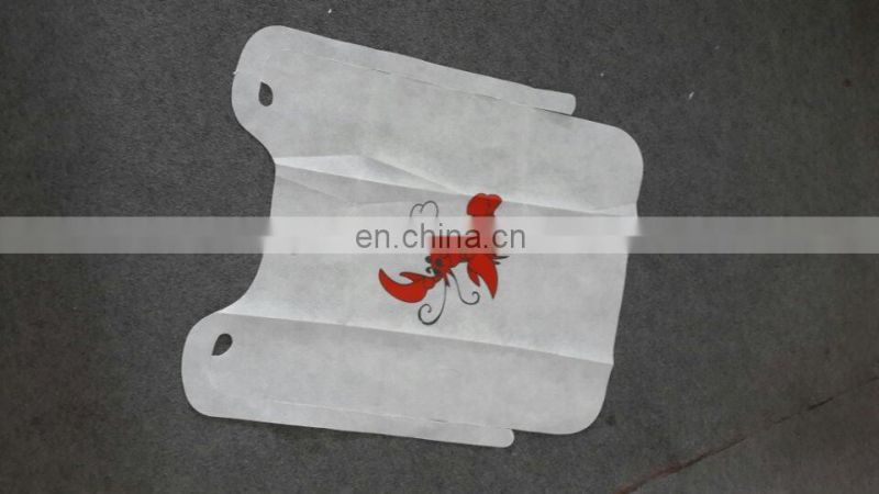 Disposable PP nonwoven Bib/Plastic bib with lobster