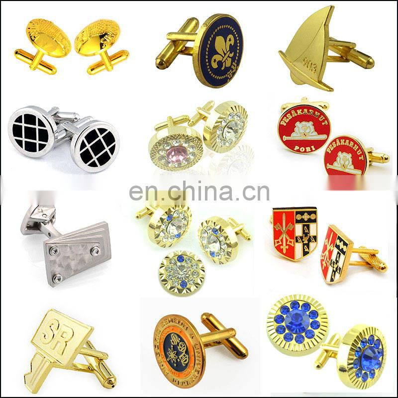 Cufflink Manufacturer Wholesale Custom Blank Brass Cufflink Findings Sets