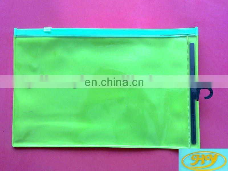 clear foldable plastic PVC zipper garment bag