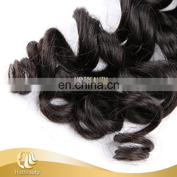 Hot Sale in Aliexpress Best One Donor Virgin Brazilian Big Curl Human Hair Extension