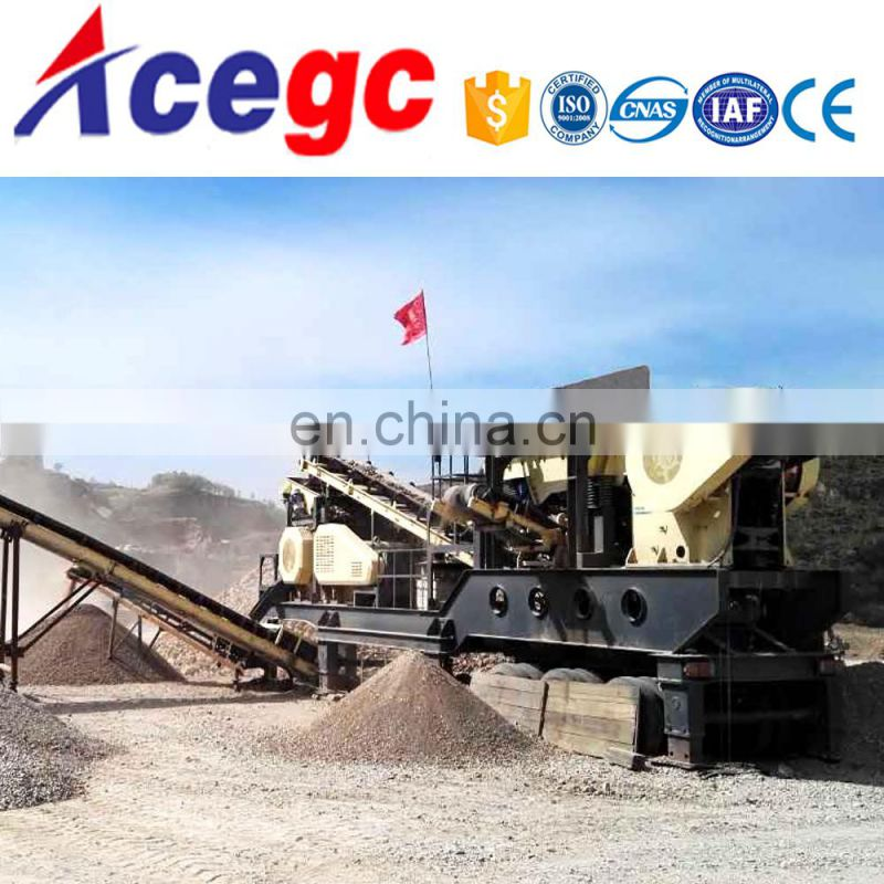 Mobile car rock stone crushing machine ,Portable waste crushing macihne for sale Image