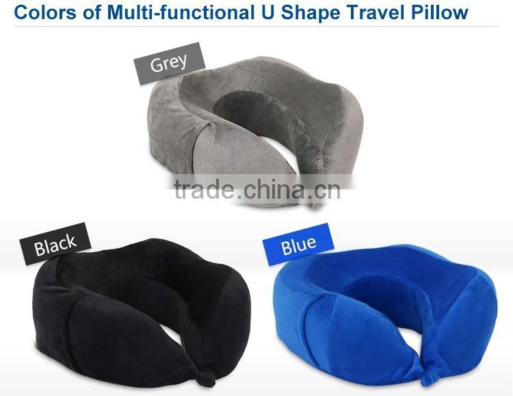 Memory Foam Travel Pillow With Sleep Mask,Custom Travel Neck Pillow With Earplugs And Carry Bag