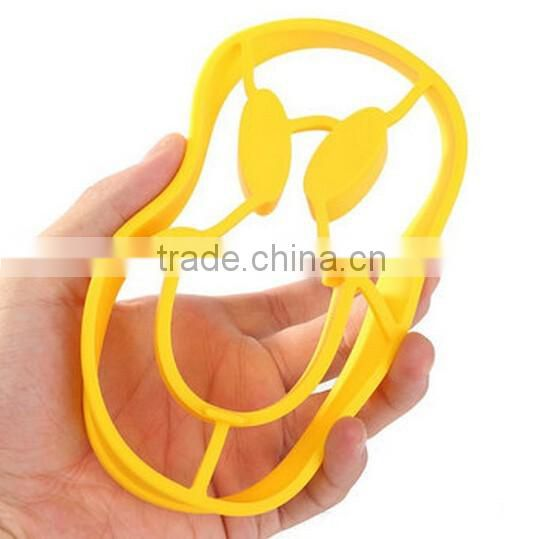 Silicone Smile Face Pancake Egg Fried Ring Mould / silicone fried egg mould / egg tray mould