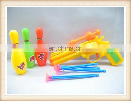 kids plastic bowling toy soft bullet gun toy