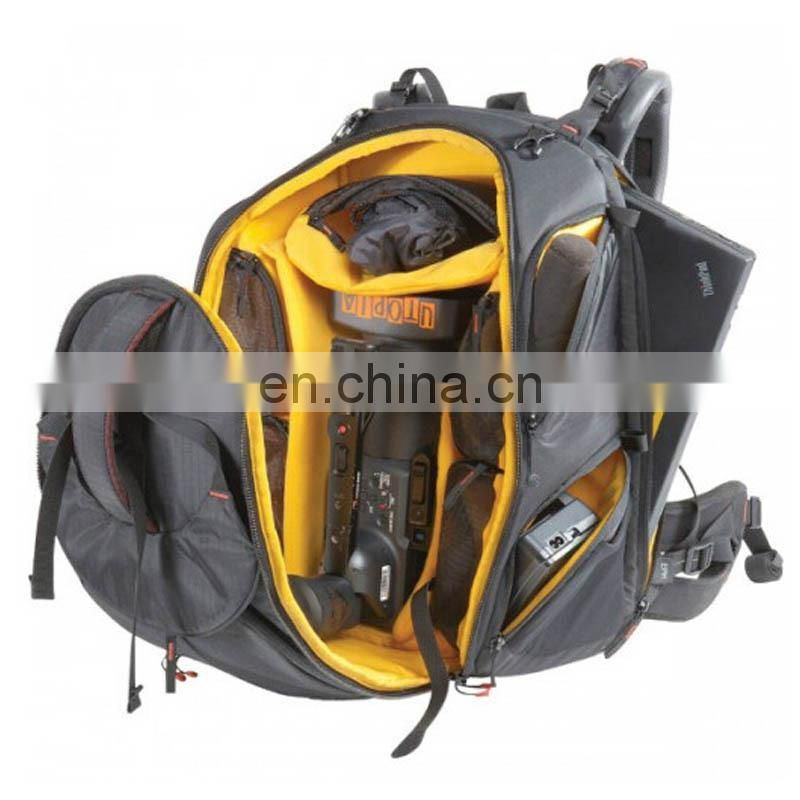 Black color nylon material waterproof camera bag