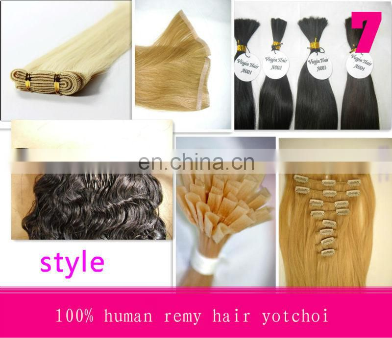 Hot sale factory cheap price high quality 100% human remy plastic bags for hair extensions