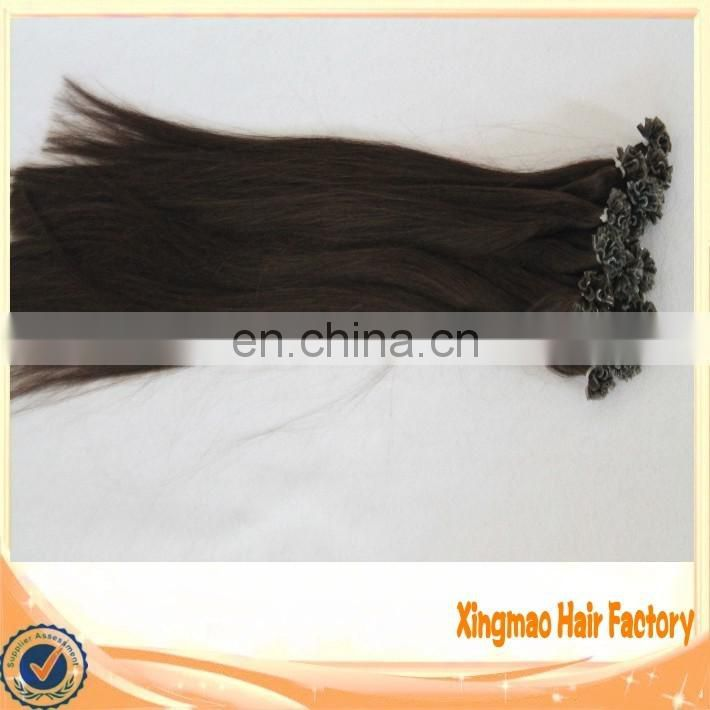 Hair Factory Wholesale Hair Double Drawn keratin Glue Remy Fusion U Tip Human Hair Extension