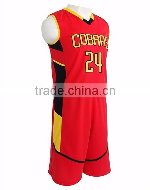 Guangzhou Daijun OEM red basketball jersey red color basketball jersey uniform design color red basketball uniform design red