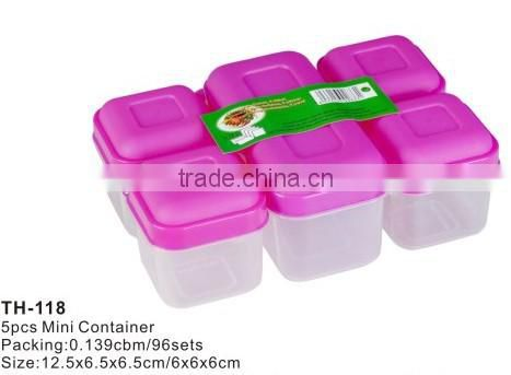 6pcs mini combine plastic containers bento storage lunch box meal prep containers
