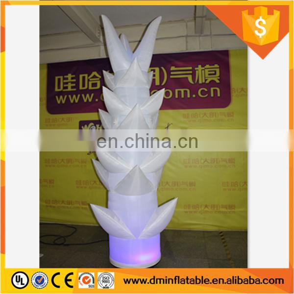 2016 Most popular custom logo inflatable pillar with led light for advertising