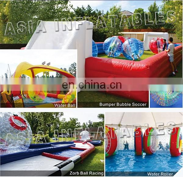 Commercial use outdoor inflatable bumper ball track zorb ball ramp for sale