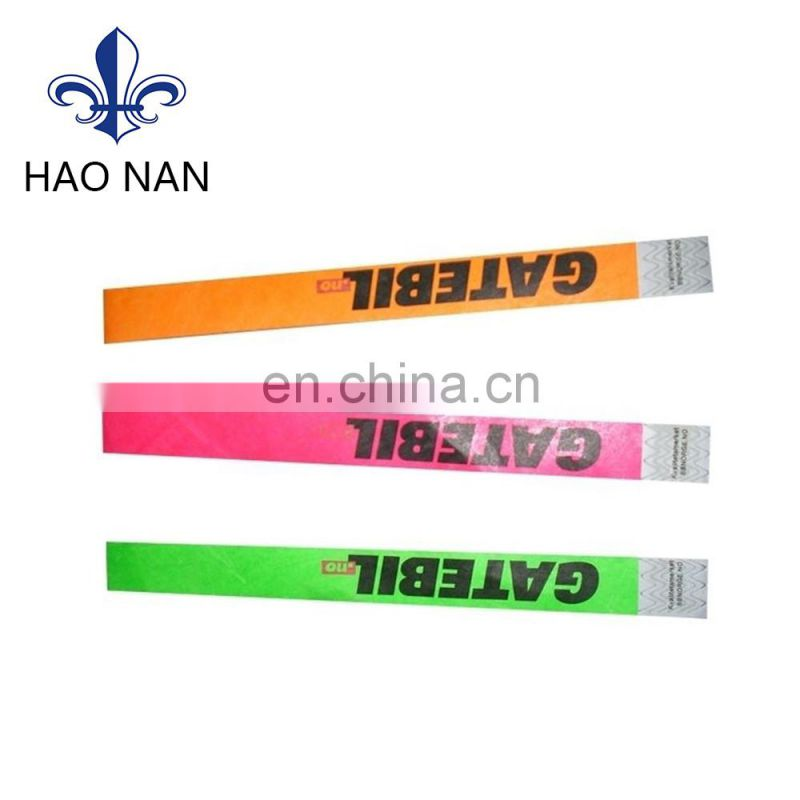 hot selling party and concert items printing tyvek wristband
